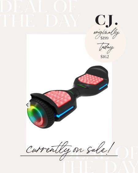 This hoverboard is on sale today. One of the top gifts for kids this year. Also linked the scooter version that's also on sale.   #LTKsalealert