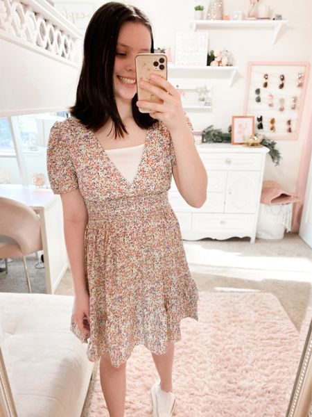 Loving this pretty dress, fits tts & linked some other cute finds for spring + summer✨  #LTKunder50 #LTKstyletip #LTKunder100