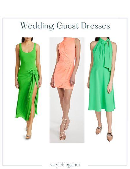 Wedding Guest Dresses, Summer Dress, Midi Dress, Mini Dress  Cinq a Sept Vera Dress ($395), Black Halo Sabina Dress ($298), Black Halo Audrey Dress ($375)  #LTKwedding #LTKfit #LTKSeasonal