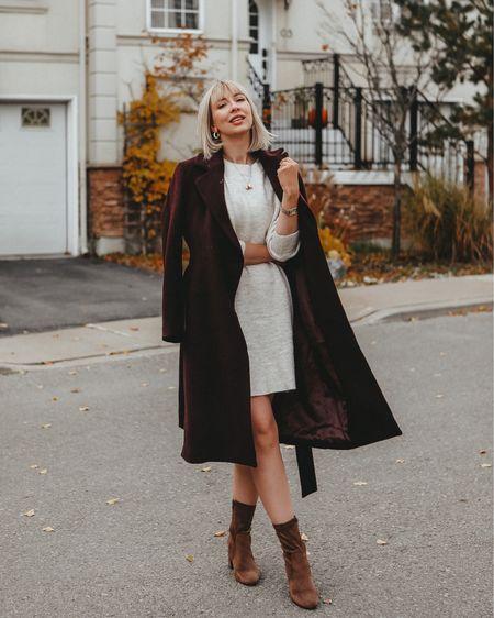 Sweater dress street style   http://liketk.it/2IhfE #liketkit @liketoknow.it #LTKholidaystyle #LTKstyletip