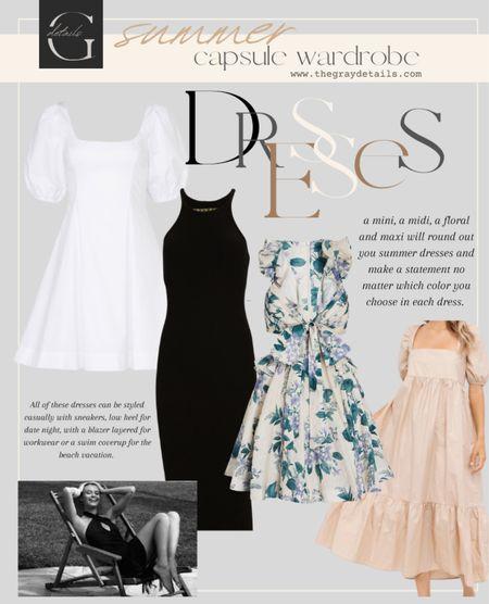 Summer dresses roundup / summer capsule / floral dress / white dress / maxi dress   #LTKwedding #LTKstyletip #LTKunder100