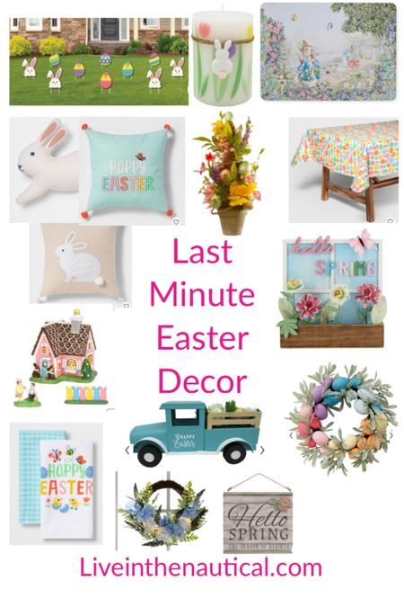 Easter is just one week away here are some last minute Easter Decorations I am loving! Many items are on sale too!  #LTKSpringSale #LTKhome #LTKSeasonal