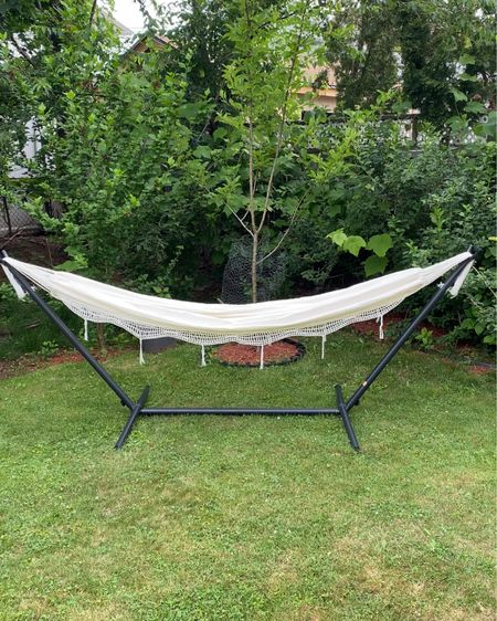 Looking for comfort and relaxation all summer long? Add this hammock to your backyard, you won't regret it!   #home #hammock #backyard #LTKhome #LTKunder100 #liketkit @liketoknow.it http://liketk.it/3htXo