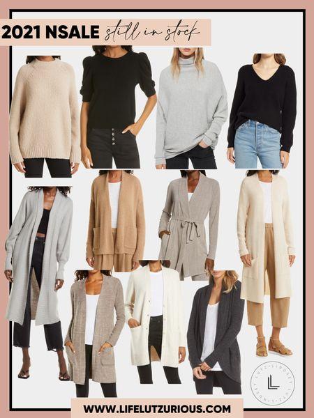 Sweaters and cardigans still in stock from the Nordstrom sale! #nsale #fall #cozy   #LTKsalealert #LTKstyletip