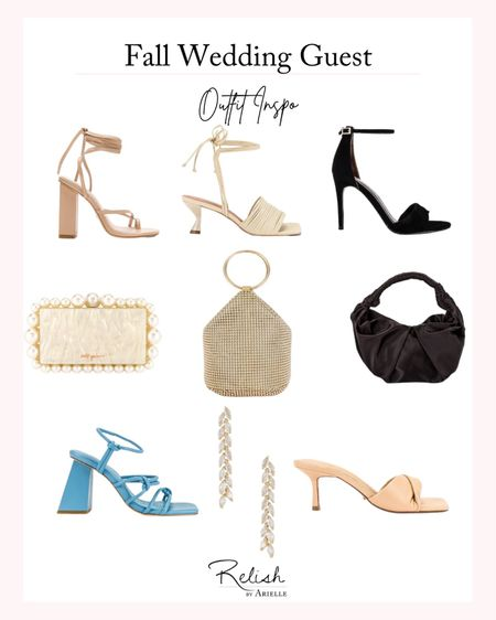 Fall Wedding Guest Outfit Inspiration - Trending wedding guest shoes and accessories, formal shoes, fall fashion, fall handbags, women's fashion, what to wear to a wedding, wedding guest outfit ideas   #LTKshoecrush #LTKitbag #LTKwedding