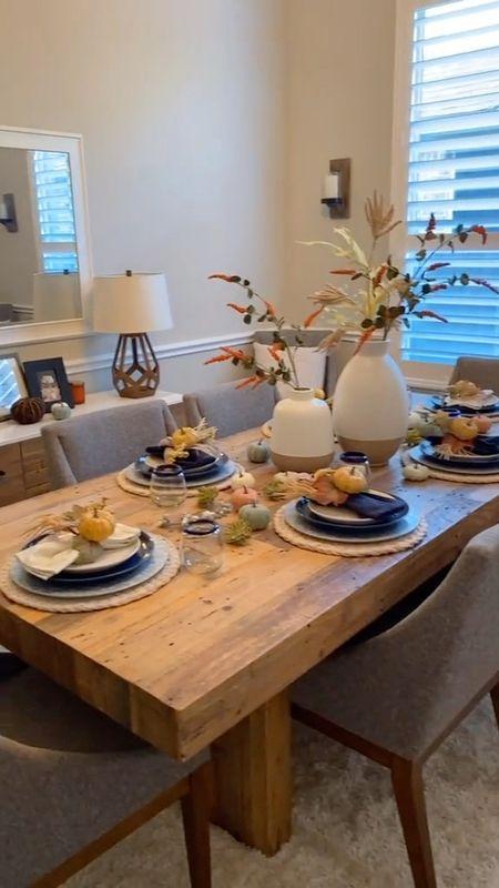 Home decor fall decorations dining table holidays   #LTKhome #LTKunder50 #LTKSeasonal