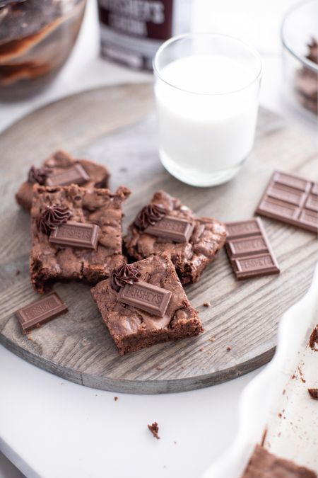 Everything you need to make these delicious brownies from HERSHEY's! Perfect fall recipe and available on Just Destiny!   #LTKhome #LTKSeasonal #LTKfamily