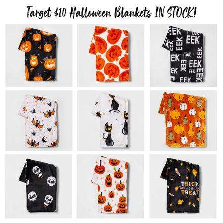 The $10 Target Halloween blankets I've been stalking online are finally in stock and there are so many cute prints!!   #LTKhome #LTKSeasonal #LTKunder50