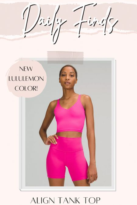 New lululemon pink align tank top! I size up in these for more room in the chest.   #LTKfit #LTKunder100