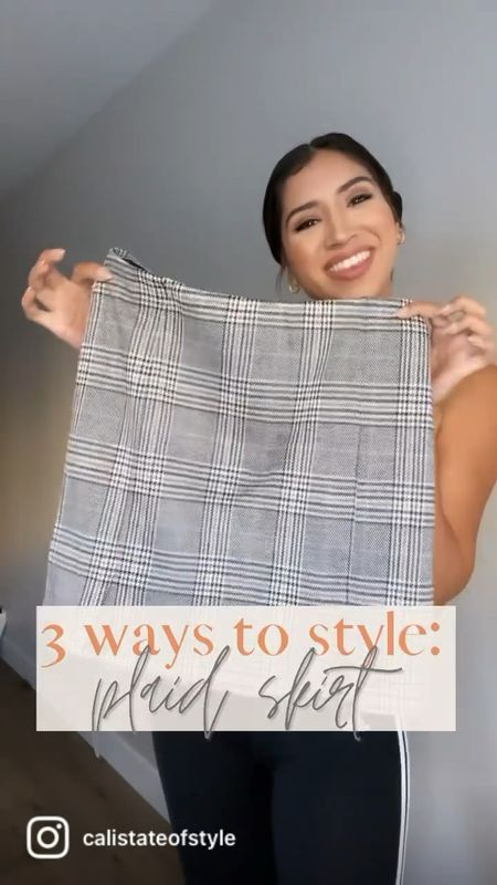 3 ways to style a plaid skirt this fall: casual, preppy & edgy. Which look is your fave?  #LTKunder50 #LTKstyletip #LTKSeasonal