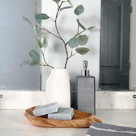 Bathroom decor to make you feel like you're at a spa! http://liketk.it/31npk #liketkit @liketoknow.it #StayHomeWithLTK #LTKhome #LTKunder50 @liketoknow.it.home
