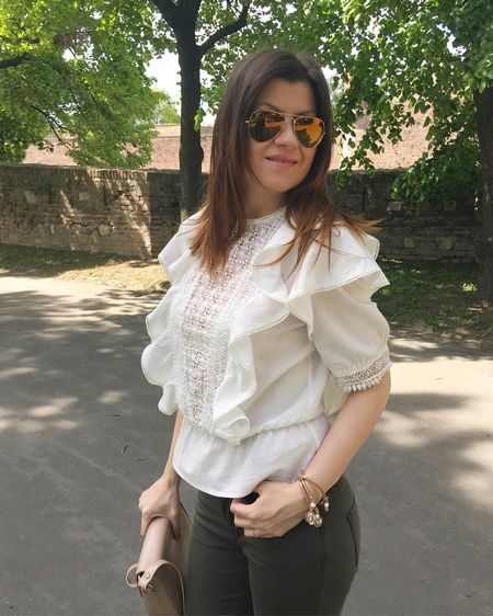 Fresh spring look with gorgeous ruffle blouse http://liketk.it/2raaI #liketkit @liketoknow.it @liketoknow.it.europe  Shop this pic via screenshot with the new LIKEtoKNOW.it app