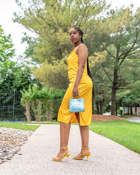 It's slip dress season! Brighten your look with a yellow slip dress. http://liketk.it/3k67P #liketkit @liketoknow.it #LTKfit #LTKwedding #LTKstyletip
