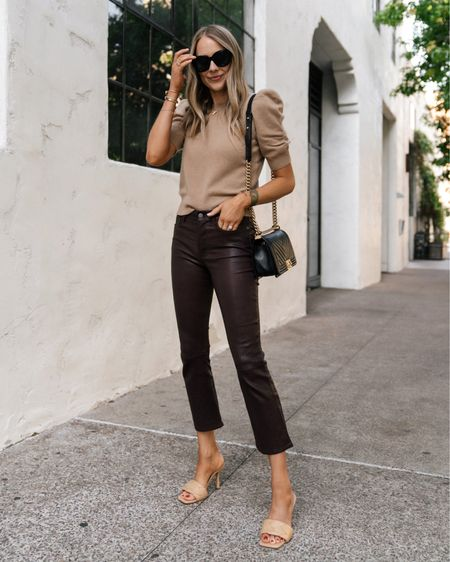 Love these burgundy leather pants for fall! Size up they fit SO well #falloutfit #leatherpants   #LTKstyletip #LTKunder100 #LTKshoecrush