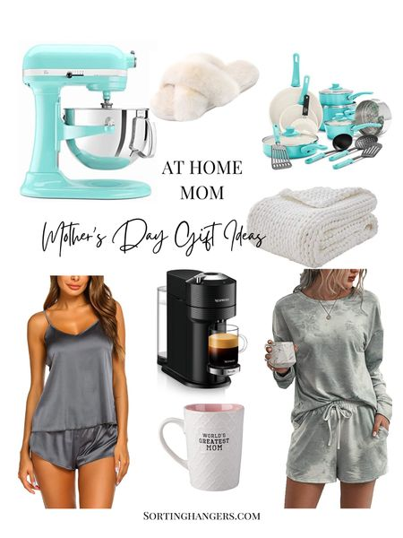 Mother's Day Gift Ideas for at home moms  Kitchen aid mixer | house slippers | pots/pans set | chunky throw blanket | coffee maker | pajama set | coffee mug   #LTKhome #LTKstyletip #LTKunder50