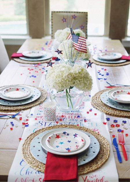 4th of July tablescape!  #competition   Home decor homedecor fourth of july summer kitchen outdoor decorations ideas target finds    http://liketk.it/3iqRY #LTKhome #LTKunder50 #liketkit @liketoknow.it @liketoknow.it.home #LTKSeasonal