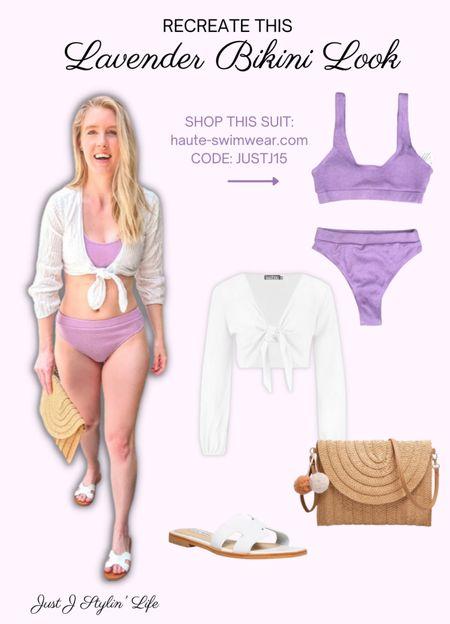 Shop these summer swim accessories. White tie front crop top, straw pom pom bag purse, white H strap sandals. The perfect additions to any swimsuit! http://liketk.it/3jgtw @liketoknow.it #liketkit #LTKstyletip #LTKunder50 #LTKunder100 #LTKswim #LTKtravel