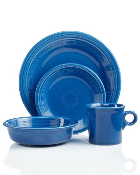 My Fiesta dishes are on such an AMAZING sale at Macy's for UNDER $30! Marked down + an additional 15% off! Got another place setting to have! Color: Lapis #liketkit #LTKSpringSale #LTKhome #LTKsalealert @liketoknow.it http://liketk.it/3bL5M