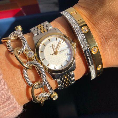 Current arm candy #stacked #bracelets http://liketk.it/2zjQD #liketkit @liketoknow.it #LTKunder50 #LTKsalealert #LTKstyletip