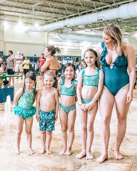 We're not picture perfect, and that's perfectly fine with me:)  I will, however, never miss an opportunity for matching swimsuits. EVER.   http://liketk.it/2KY8B #liketkit @liketoknow.it #LTKswim #LTKunder50 #LTKkids @liketoknow.it.family