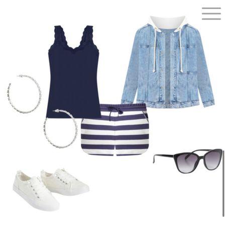 Blue & white shorts and tanks http://liketk.it/3iPx6 #liketkit @liketoknow.it #LTKunder100 #LTKsalealert