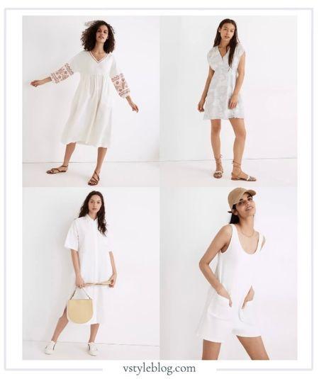 Madewell, Summer, White Dresses, White Romper, Mini Dress, Oversized Dress, Midi Dress, Sunflower Dress.   #LTKSeasonal #LTKstyletip #LTKwedding