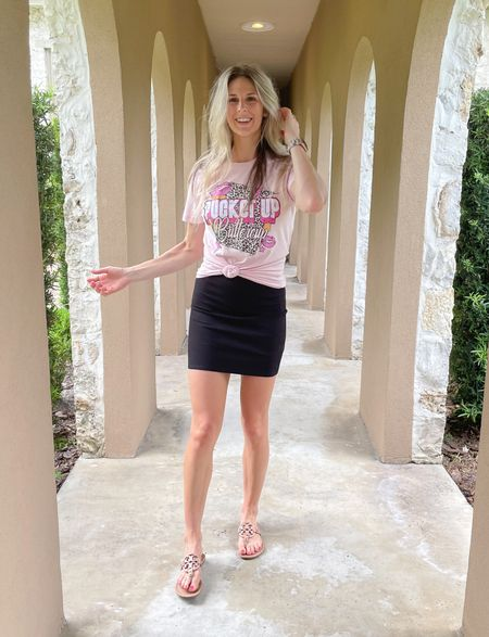 Everything tts  Use code WDSIERRAP for the shirt & SIERRA20 for the skirt.  😍       Fall transition  Fall skirt Graphic tee Fall outfits  Concert outfits Work wear Summer outfit  Whiskey darling  Indigo closet   #LTKunder50 #LTKbump #LTKstyletip