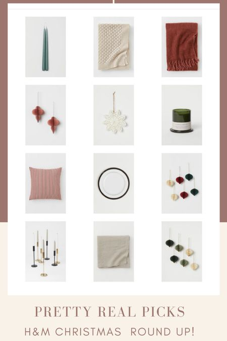 Christmas round up! H&M finds, paper ornaments, Christmas throw pillows, Christmas candle, Christmas decor, candle holders   #LTKhome #LTKunder50 #LTKHoliday