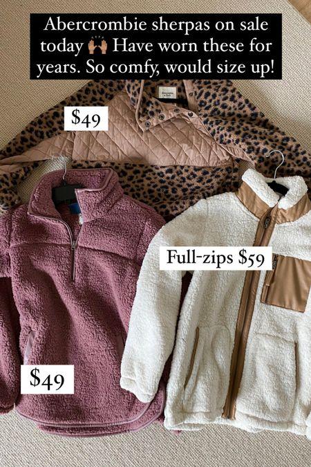The softest sherpas on sale at Abercrombie today!     #LTKstyletip #LTKSeasonal #LTKsalealert