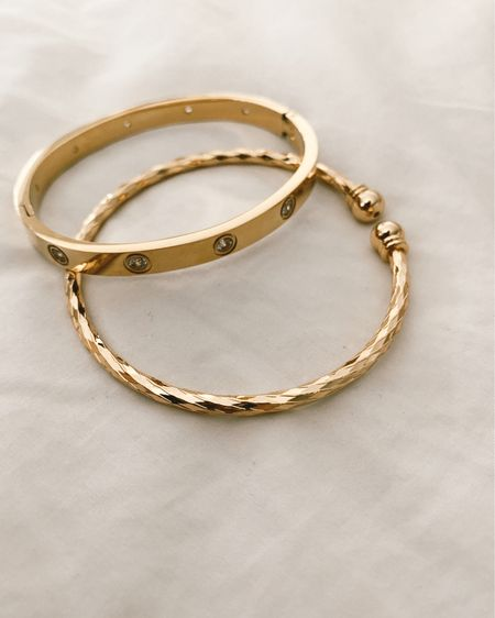 These gold bracelet designer dupes from amazon are under $25 and are real gold plated! http://liketk.it/2QhdW #liketkit @liketoknow.it #LTKunder50 #LTKstyletip #LTKsalealert