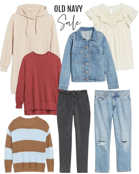 Labor Day sales continue and Ok'd Navy has so many! These mix and match pieces are perfect for my casual style. These are my favorite jeans. Denim jacket always versatile.  #ltkbacktoschool #ltkseasona  #LTKfit #LTKstyletip #LTKsalealert
