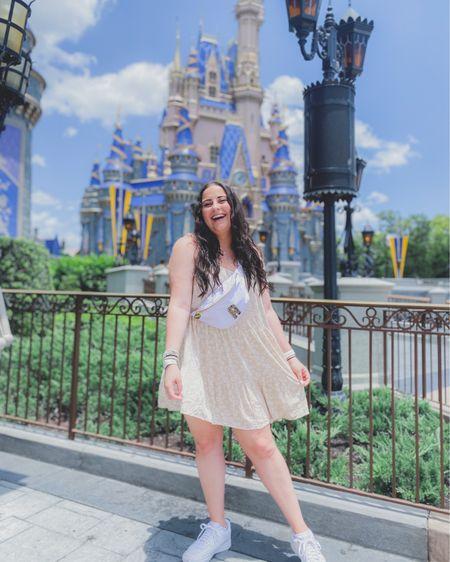 Neutral floral dress and white sneakers. Dress is under $20! http://liketk.it/3gtKN #liketkit @liketoknow.it #LTKunder50 #LTKstyletip #LTKunder100