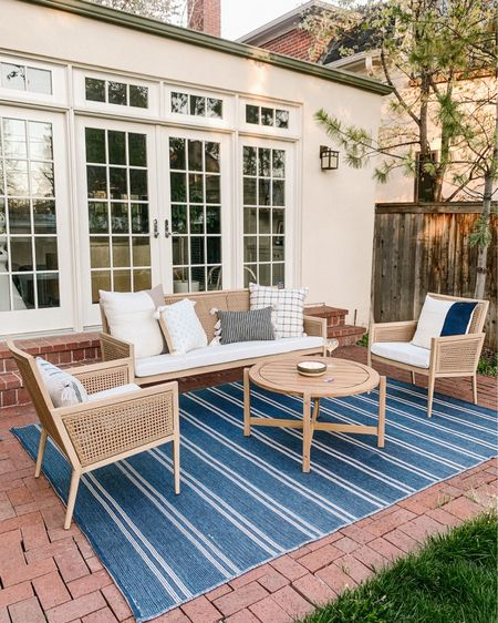 Still can't believe this dreamy space is ours 🥰 still waiting on a few things to arrive, but I can already tell we will be spending SO much time here this summer! Outdoor furniture, patio furniture, studio mcgee, farmhouse http://liketk.it/3eMpw #liketkit @liketoknow.it #LTKhome #LTKstyletip