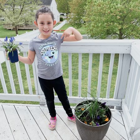 Happy Earth Day! We decided to plant some beautiful flowers today.   #LTKSeasonal #LTKhome #LTKkids