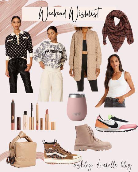Items on my weekend wishlist - boots, Pillowtalk, jackets + more!   #LTKshoecrush #LTKbeauty #LTKstyletip