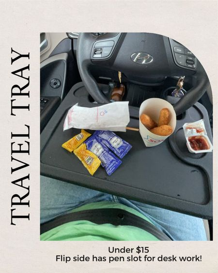 Things you need from Amazon : If you eat/work in your car often (School pickup line, travel, whatever) I can't recommend this tray enough!!! A friend told me about it and it has CHANGED the game (she's the real MVP!) flip side has a pen spot for desk work   #LTKfamily #LTKhome #LTKtravel