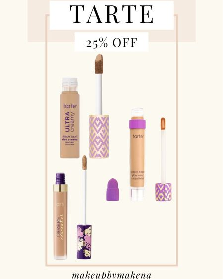 http://liketk.it/3cCck #liketkit @liketoknow.it #LTKSpringSale #LTKbeauty #LTKsalealert Get 25% off and free shipping on the entire Tarte website, including these concealers, this weekend for the LTK Spring Sale!