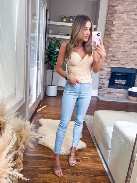 Cami size xxs, jeans size 00   #LTKunder50 #LTKsalealert #LTKunder100