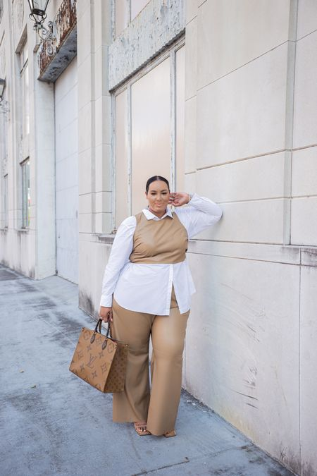 Walking into fall like…. Love this good American set and it is size inclusive. Fall, plus , curvy, neutrals  #LTKSeasonal #LTKcurves #LTKitbag
