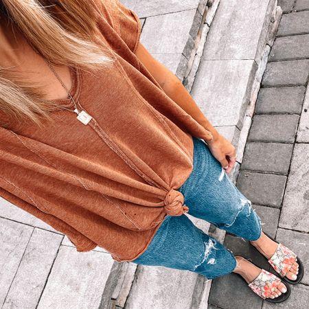 Comfy Sunday on the most gorgeous 75 degree day ☀️🙌🏻 I'm really loving these Target jeans!   #LTKunder50 #LTKstyletip #LTKshoecrush