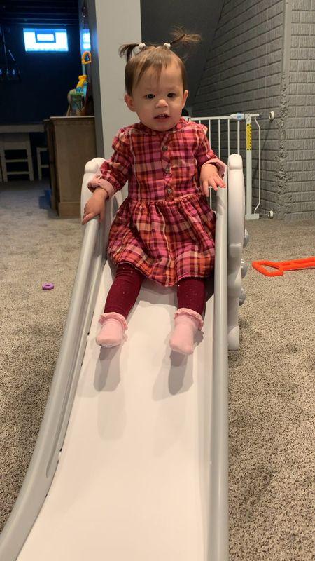 Toddler slide. Toddler toys. Toddler flannel dress. Target finds. Target style. Toddler gift ideas. Amazon finds. Toddler fall clothes.   #LTKkids #LTKfamily #LTKSeasonal