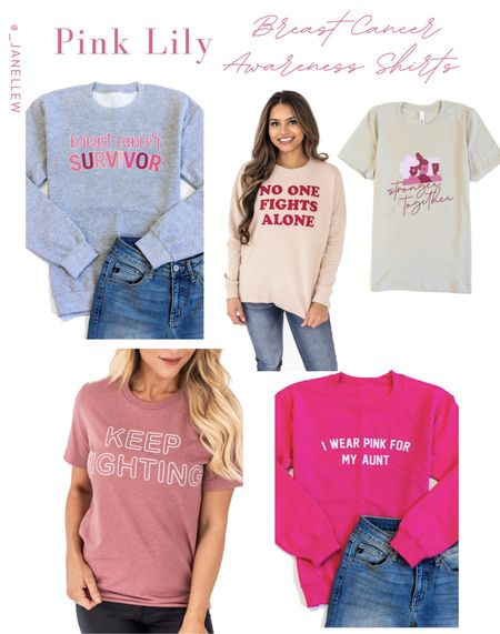 Breast Cancer Awareness Month is here!! 💕 Pink Lily is donating 10% of today's sales to the Breast Cancer Foundation, Inc. If this organization is true to your heart, please don't hesitate and be apart of it.  #breastcancer #breastcancermonth #pink #pinklily #october #tshirt #sweatshirt   #LTKSeasonal #LTKunder50 #LTKGiftGuide