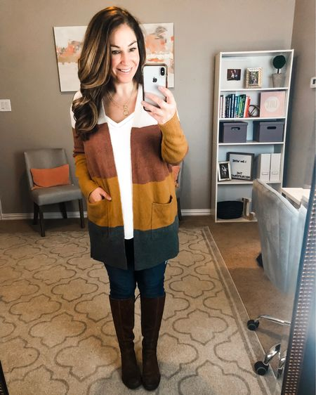 This perfect for fall @madewell cardigan is up to 30% off with code YOUCHOOSE! Size down for more fitted look, I'm in a S but also own this style in M and it's cozy and oversized feeling. http://liketk.it/2Fudc #liketkit @liketoknow.it #LTKcurves #LTKstyletip #LTKsalealert #LTKshoecrush #LTKunder100 #colorblockcardigan #madewell #madewellsale #fallcardigan