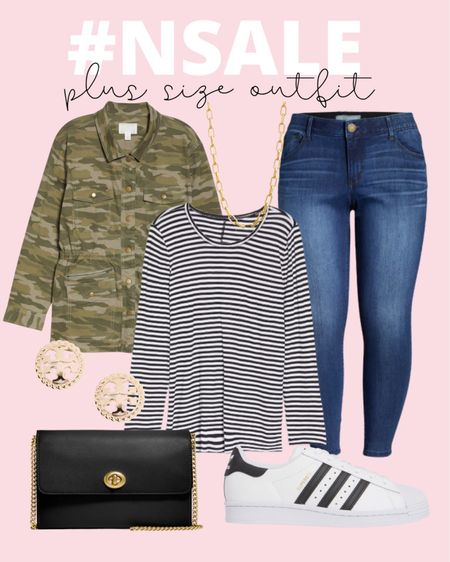 This plus size Nordstrom Anniversary Sale outfit is full of great fall basics you can use in any casual plus size outfit! #nsale   #LTKsalealert #LTKcurves #LTKunder100