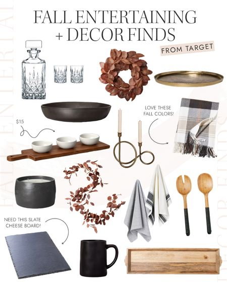 Fall entertaining and decor finds from target #targetfinds #fall #homedecor  #LTKhome