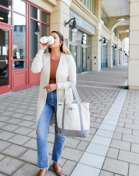 easy everyday fall outfit with the best bodysuit