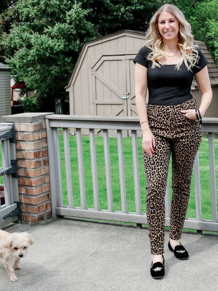 The great debate…do you like bodysuits? Yay or nay? I am loving them! I styled this simple black bodysuit with a pair of leopard pants for a casual workwear look 🖤🤎 #liketkit   #LTKbeauty #LTKstyletip #LTKshoecrush @liketoknow.it http://liketk.it/3dXJI