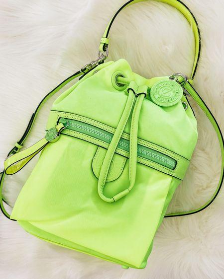 Chartreuse Cole Haan bag  Perfect summer travel bag  SALE ALERT   http://liketk.it/3fWfZ #liketkit @liketoknow.it #LTKitbag #LTKsalealert #LTKstyletip