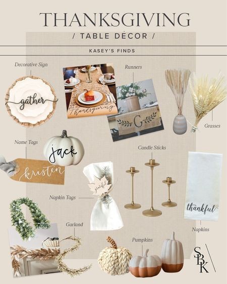 H O L I D A Y S \ #thanksgiving table decor finds!🦃🦃🦃  #thanksgivingdecor #thanksgivingtable  #LTKHoliday #LTKhome
