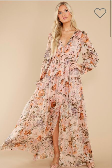 The most beautiful dress for a fall wedding guest dress!